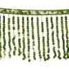Sequin Fringe 6mm Trim Hologram Green 15cm Long